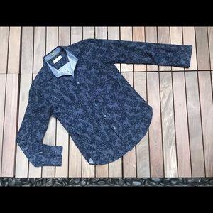 DENIM & FLOWER Slim Fit Dress Shirt